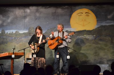 Cathy and Dave performing at the Winter Creek Reunion Festival, Bennington OK